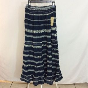 NWT Denim & Supply Ralph Lauren Blue Maxi Skirt